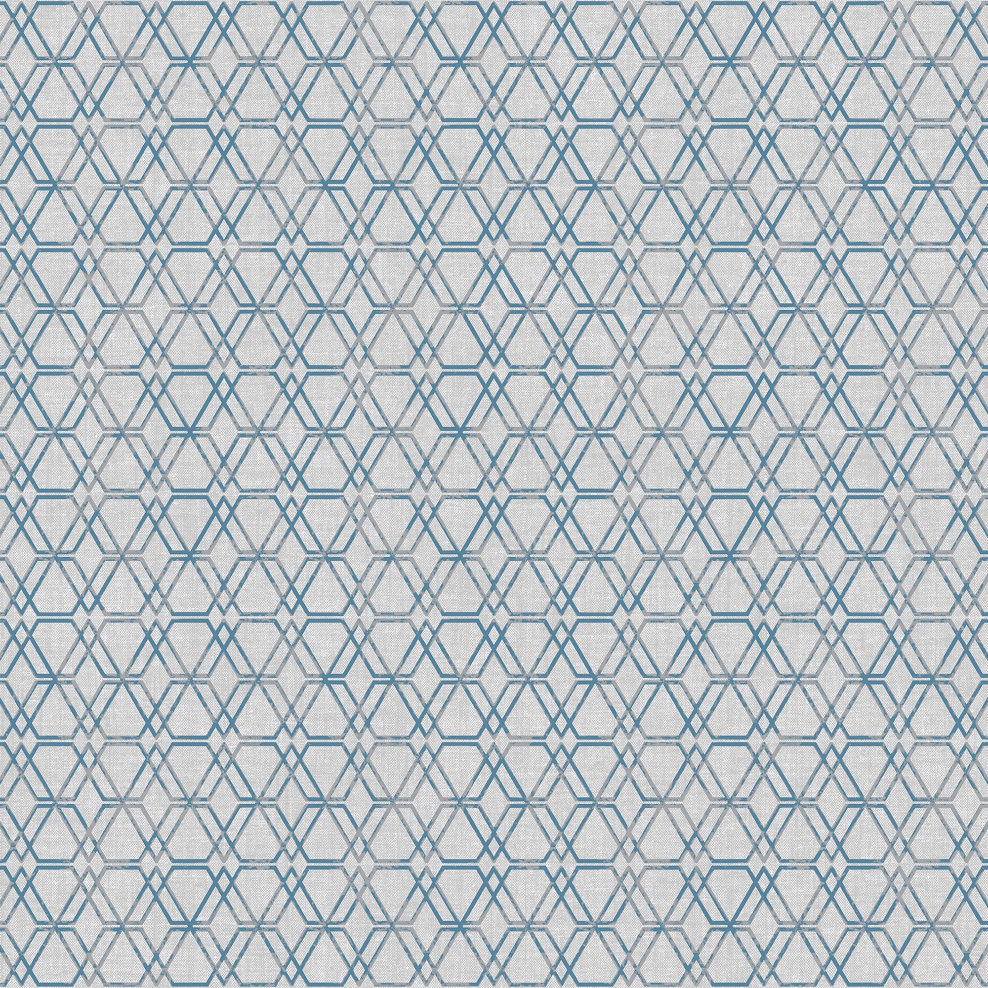 Esagono Grey Geometric Wallpaper