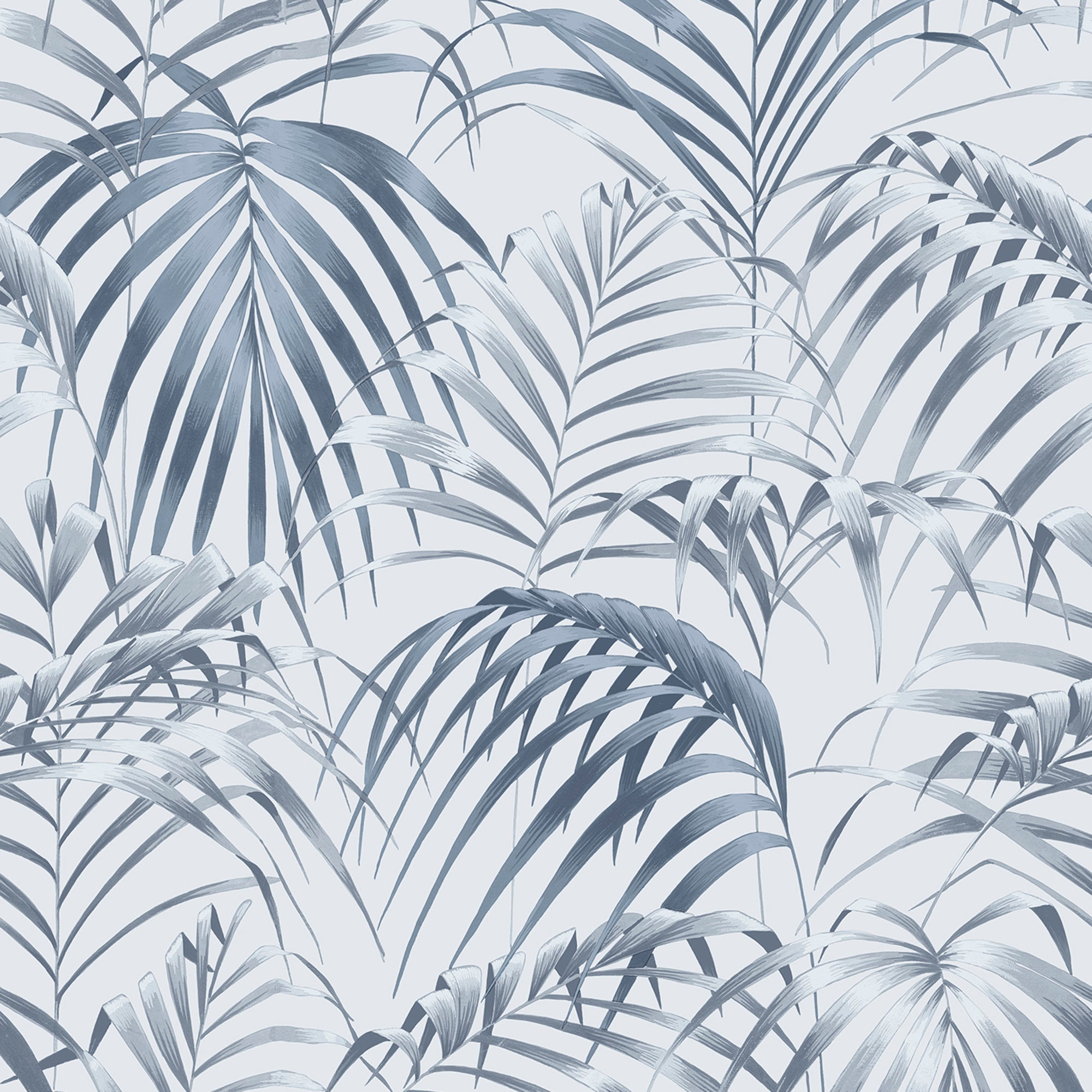 Raja Blue Palm Wallpaper