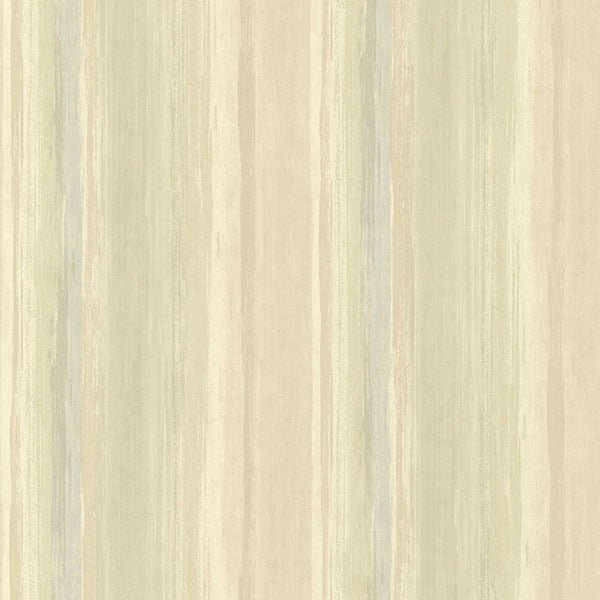 Sebago Moss Dry Brush Stripe Wallpaper