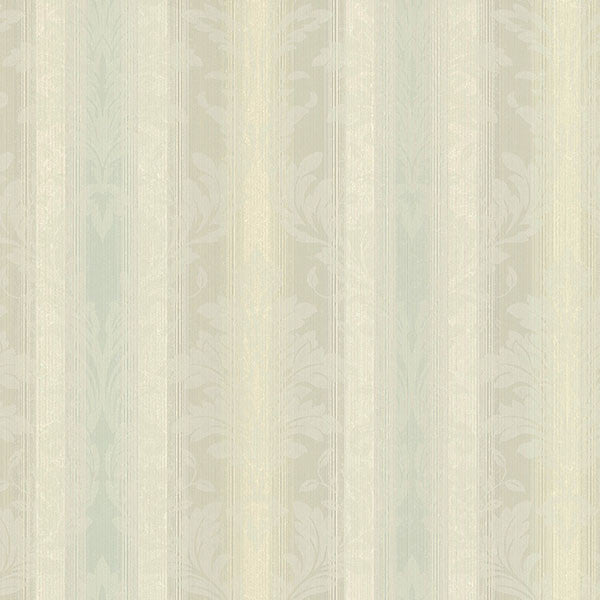 Rangeley Aqua New Avalon Stripe Wallpaper