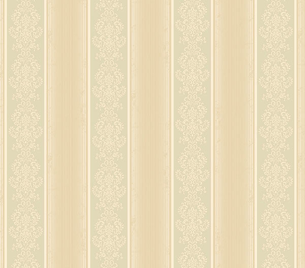 Eastport Beige Arabelle Stripe Wallpaper