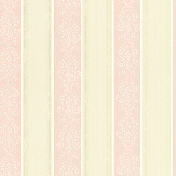 Eastport Pink Arabelle Stripe Wallpaper