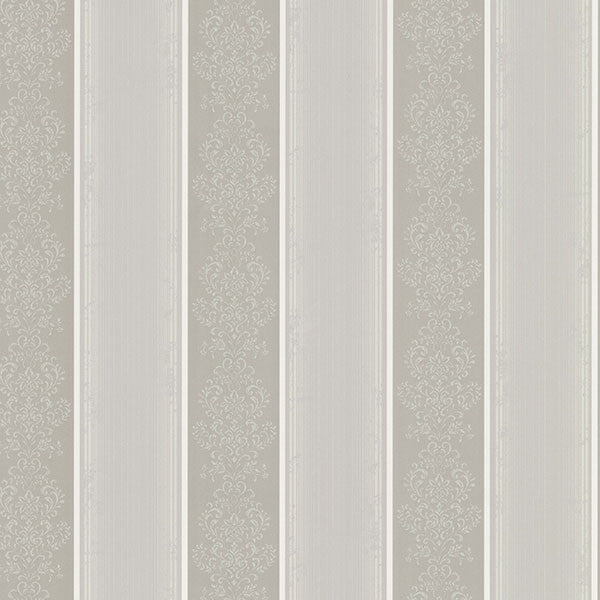 Eastport Pewter Arabelle Stripe Wallpaper