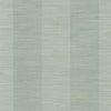 Oakland Aqua Grasscloth Stripe Wallpaper