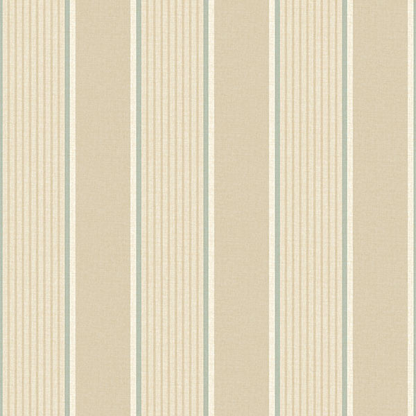 Steuben Wheat Turf Stripe Wallpaper