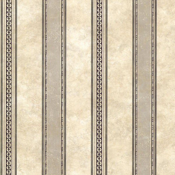 Castine Charcoal Tuscan Stripe Wallpaper