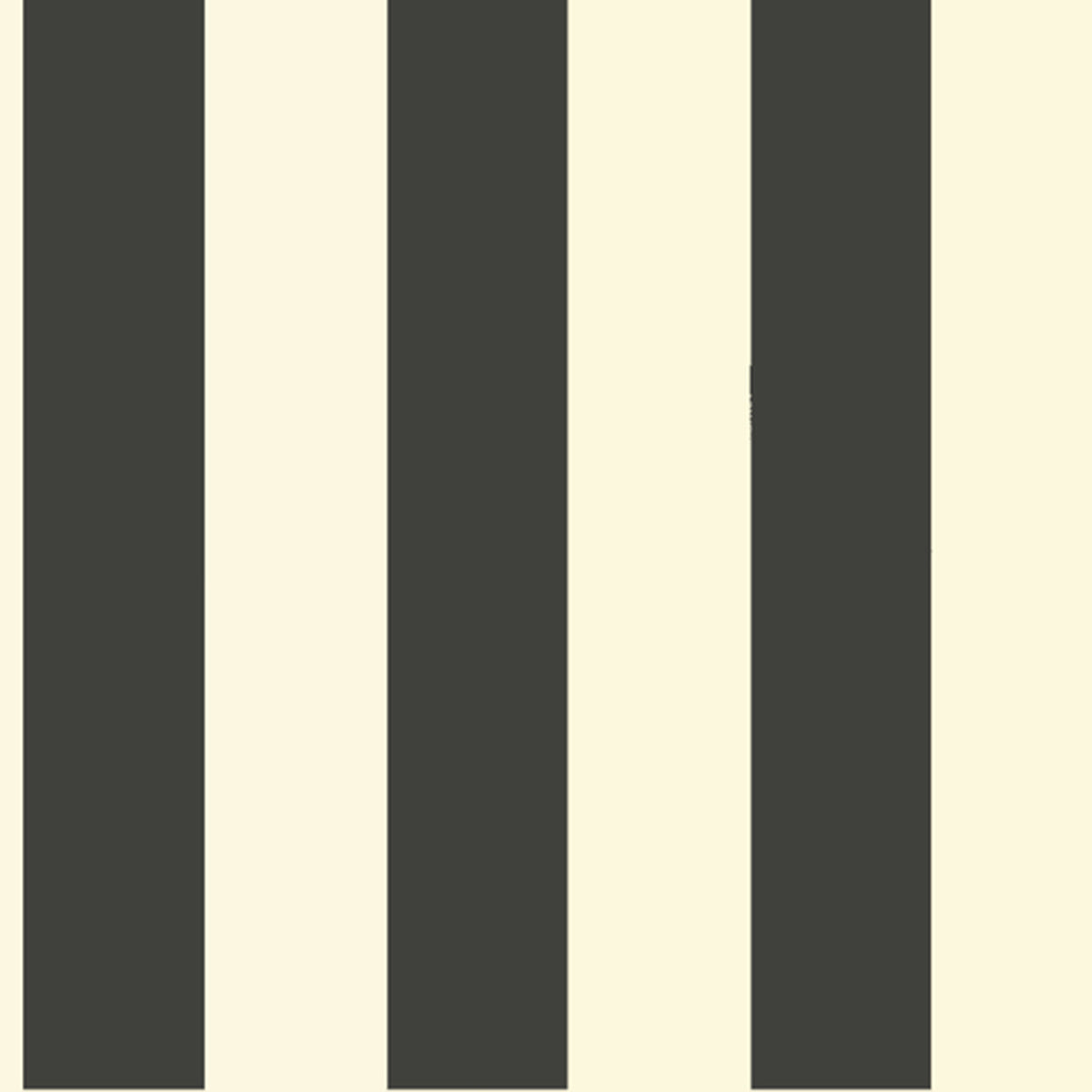 Magnolia Home Awning Stripe Wallpaper in Black