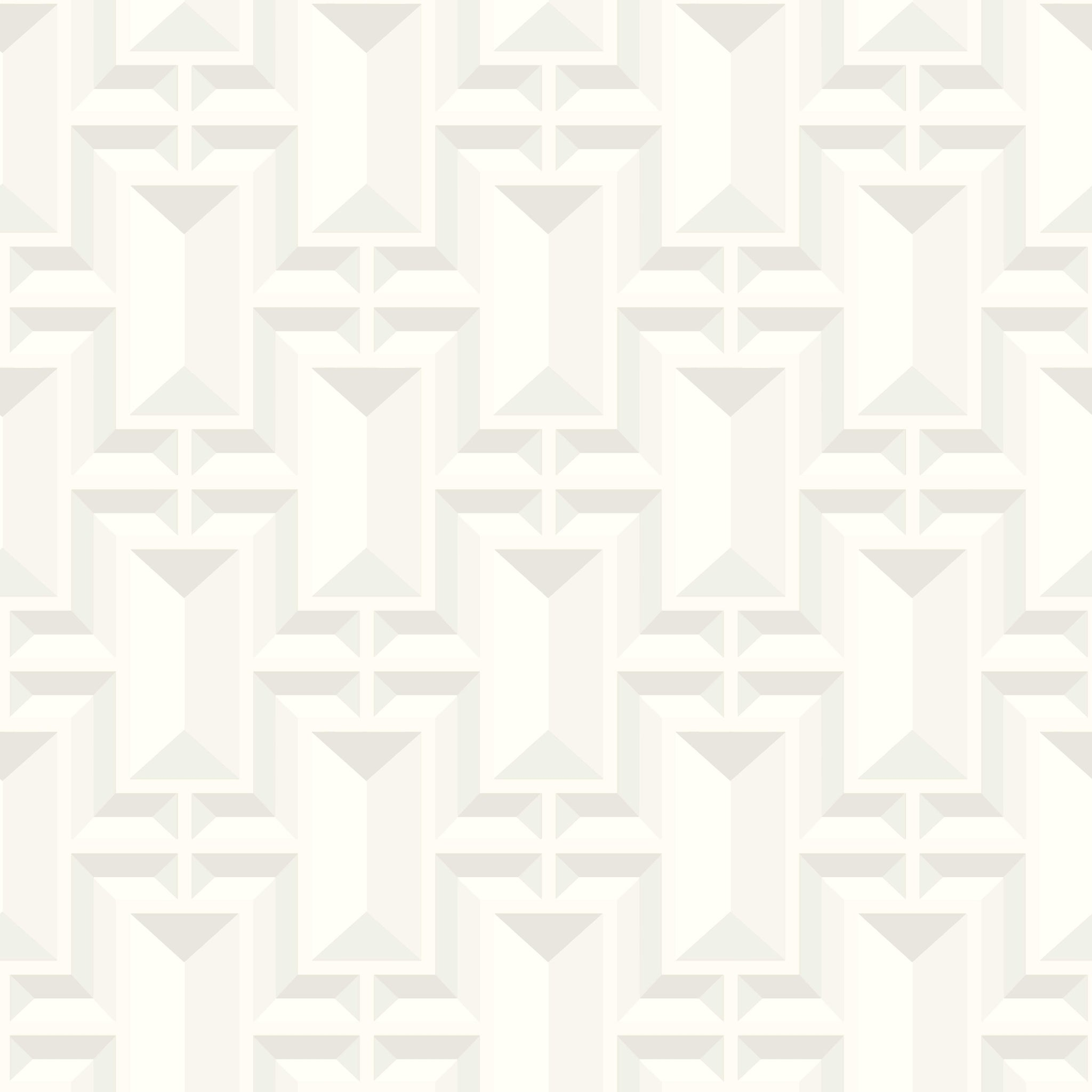 Ashford House Facet Geo Wallpaper - White