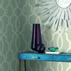 Ashford House Hourglass Trellis Wallpaper - Black