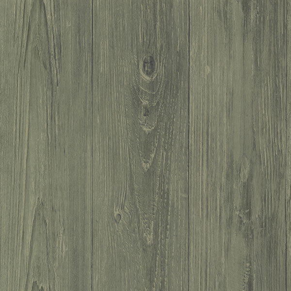 Cumberland Sage Faux Wood Texture Wallpaper