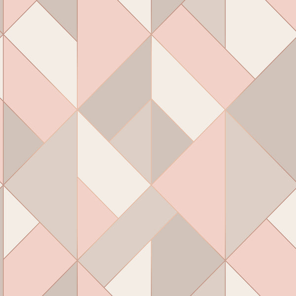 Delano Rose Structured Geo Wallpaper