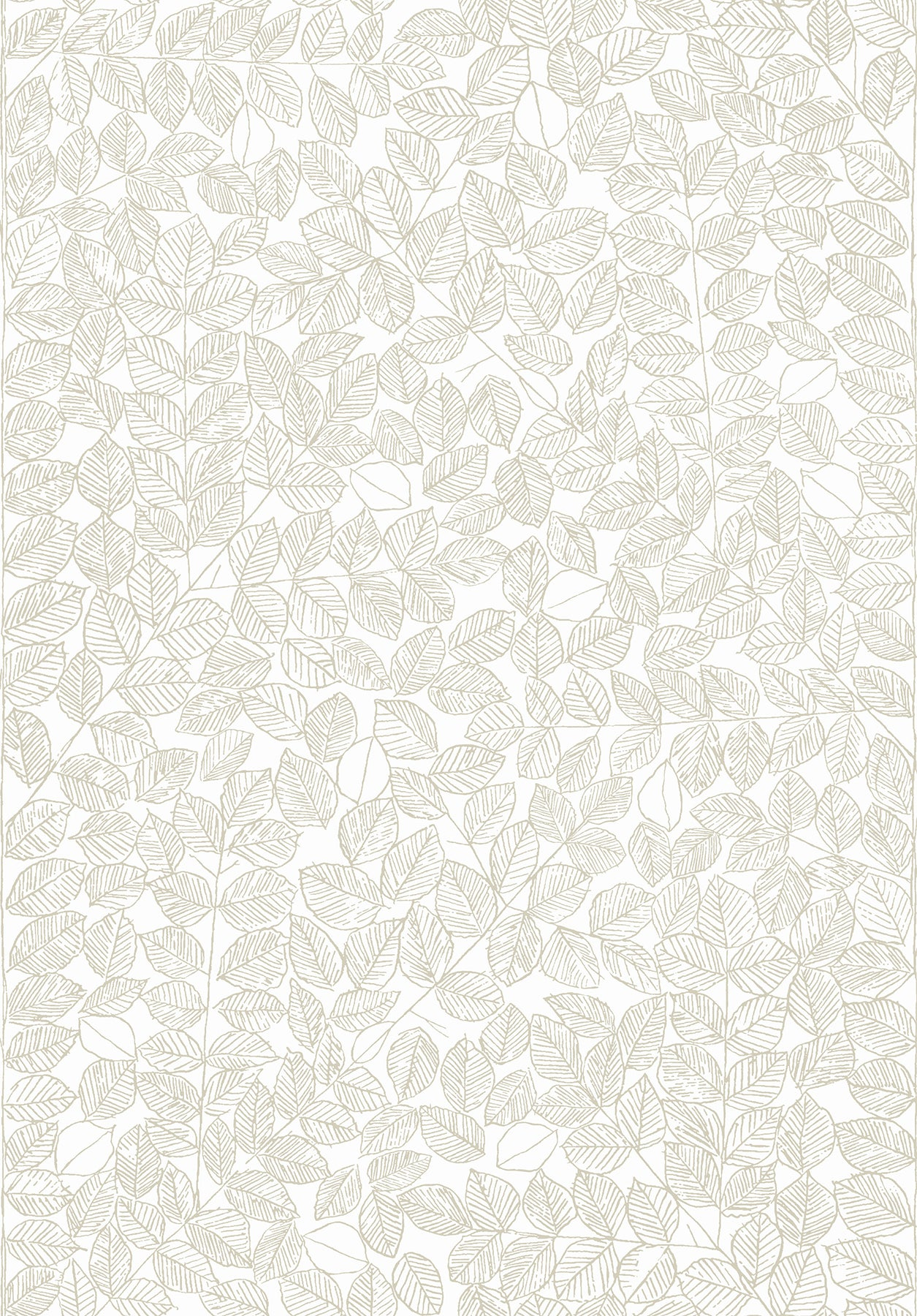 Romans Beige Leaf Wallpaper
