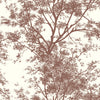 Ashford House Tree Silhouette Sidewall Wallpaper - Black,White