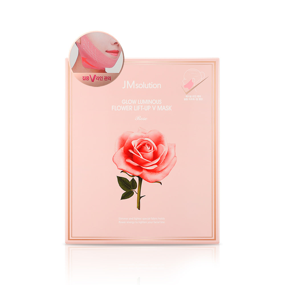 GLOW LUMINOUS FLOWER LIFT UP V MASK ROSE, 1 COUNT