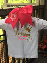 Birthday Princess Glitter T-Shirt