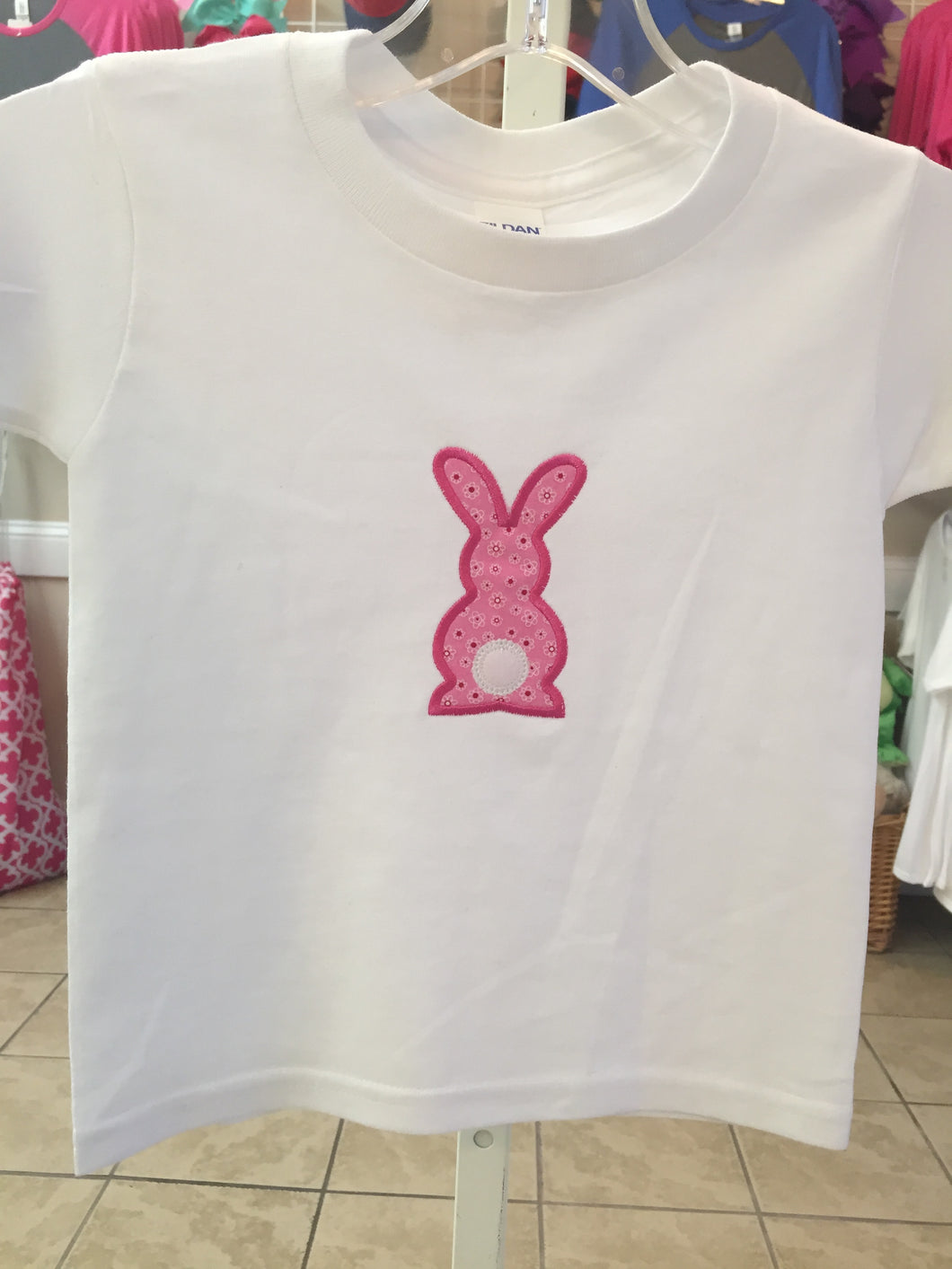 Bunny Silhouette Applique T-Shirt