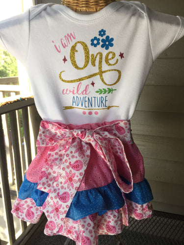 Birthday Onesie and Skirt Set