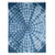Navy Color Cacala Spiral Tie Dye Throw Blanket
