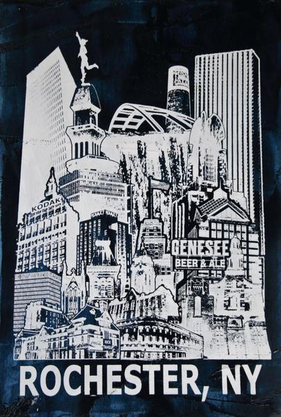 Rochester Skyline Art & T-Shirts