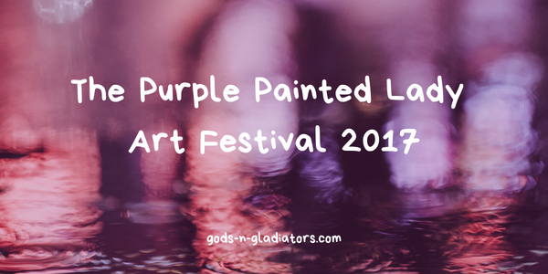 purple painted lady art festival 2017