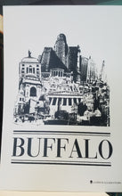 Love Buffalo Screen Print Poster 13 X 19 Black & White