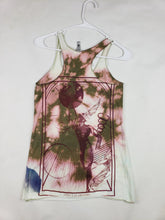 """No Bear Hear"" Monoprint Size X-Small: RacerBack Tank Top"