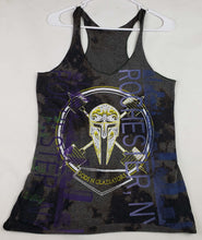 """Athina"" Monoprint Size: Small RacerBack Tank Top"