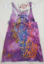 """Go"" Monoprint Size: Small RacerBack Tank Top"