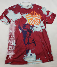 """Red Run"" Monoprint Size: Mediun T-Shirt"