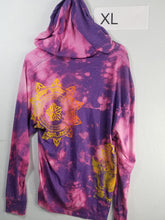 """Purple Clouds"" Monoprint Thin Hoodie Size: XL"