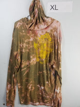 """The Gods Mountain"" Monoprint Thin Hoodie Size: XL"