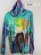 """Acrylic Sky"" Monoprint Thin Hoodie Size: Small"