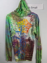 """Green Wind"" Monoprint Thin Hoodie Size: XS"