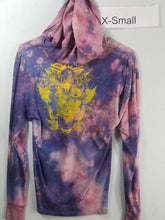 """Purple Monster"" Monoprint Thin Hoodie Size: XS"