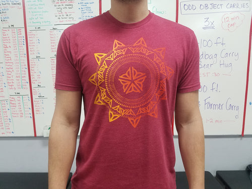 The Flower City Mondala Cardinal Red Tee