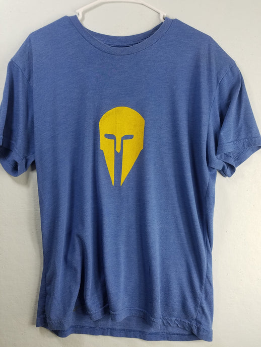 The Spartan Helmet Blue T-Shirt
