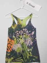 """To the End"" Monoprint Size X-Small: RacerBack Tank Top"