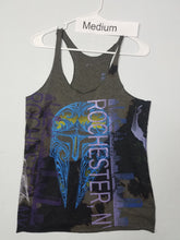 """Smokey Night"" Monoprint Size Medium: RacerBack Tank Top"