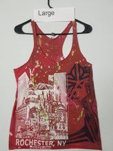 """Dont Run, Fight"" Size Large, Monoprint RacerBack Tank Top"