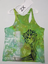 """Love Green"" Size 2X, Monoprint RacerBack Tank Top"