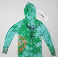 """Green Bee"" Monoprint Thin Hoodie Size: X-Small"