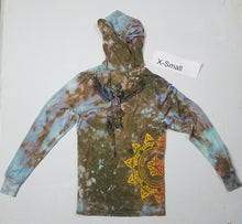 """Wind Me Up"" Monoprint Thin Hoodie Size: X-Small"