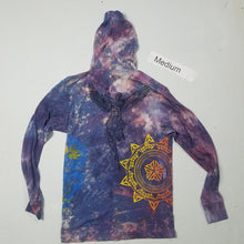 """Moon Lit"" Monoprint Thin Hoodie Size: Medium"