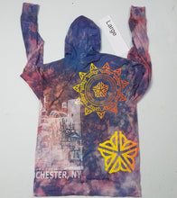 """Open Sky"" Monoprint Thin Hoodie Size: Large"
