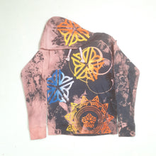 """The Gypzy Rose"" Monoprint Thick Hoodie Size: Small"