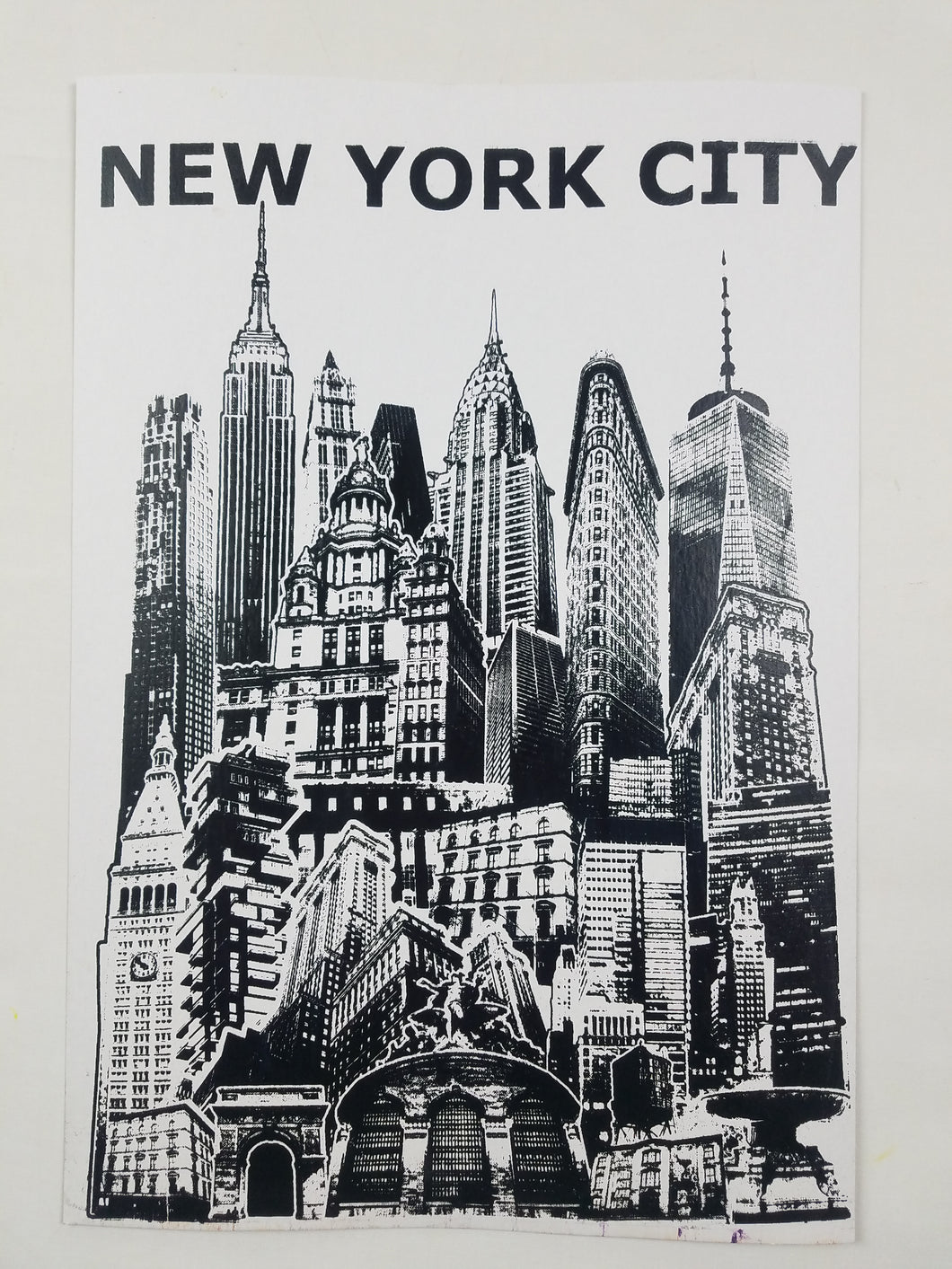 New York City Screen Print Poster 13 X 19