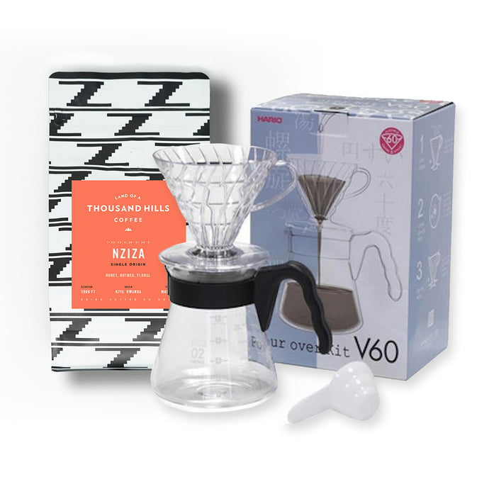 Manual Pour Over Hario V60 and Coffee Set