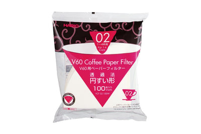 Hario V60 Pour over Filters 100/pk.