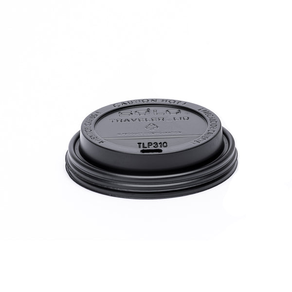 Dart Solo Black Black Plastic Travel Lid - 1000/Case