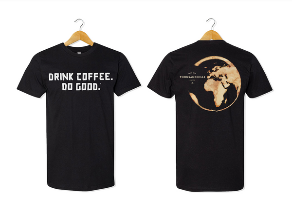 Classic Black Drink Coffee. Do Good. ® Short Sleeve Shirt